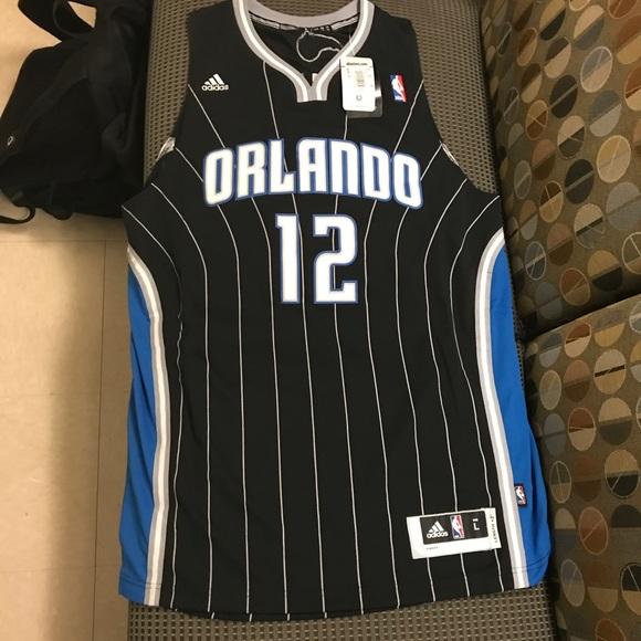 972bc29544a Dwight Howard Orlando Magic Black pinstripe jersey